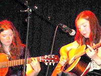 June and Sarah on guitars